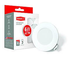 Точечный LED светильник Maxus SDL 6W 3000K