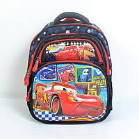 Детский школьный рюкзак для 1-2 классов (Тачки 3D) - Артикул 87-1206