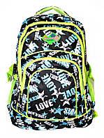 Рюкзак подростковый (школьный) 11 JM1967 звезды черный, рюкзак для школы, рюкзак недорого, дропшиппинг украина