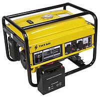 Генератор бензиновый TITAN ПБГ2800Е (2,5кВт/2,8кВт, 4-х тактный, электростарт)