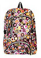 Рюкзак подростковый 218 горох коричневый, рюкзак для школы, рюкзаки недорого, дропшиппинг украина