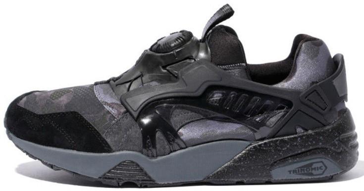 Мужские кроссовки Bape x Puma  Disc Blaze Black Camo