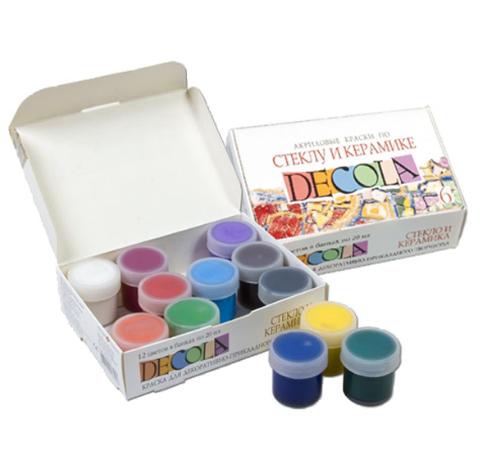 Наборы красок для стекла и керамики