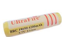 Аккумулятор UltraFire BRC 18650 4200 mAh, Li-Ion. UltraFire. аккумуляторы общего назначения