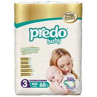 Подгузники детские PREDO BABY MIDI (3) 4-9 кг 68 шт