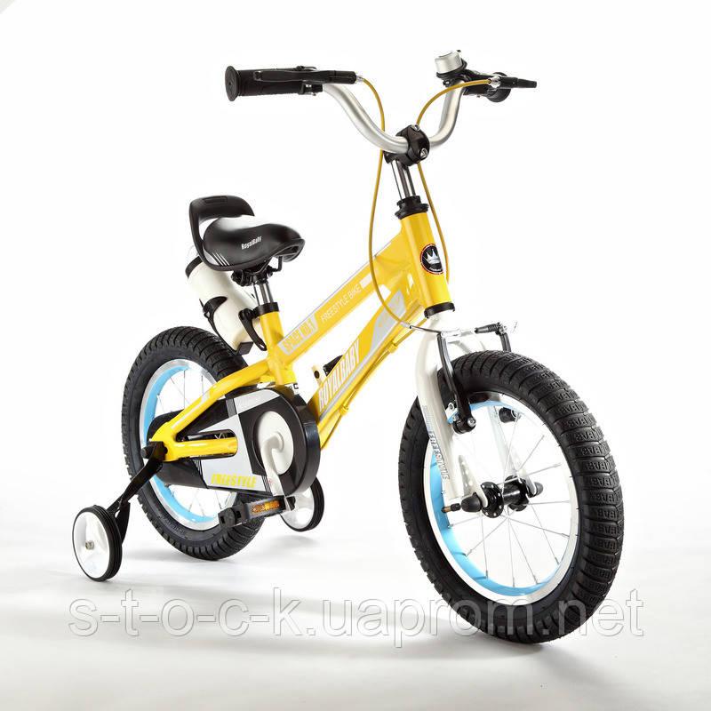 "Детский велосипед Royal Baby Freestyle Space 1 Alloy 16"". Жёлтый"