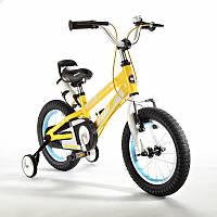 "Детский велосипед Royal Baby Freestyle Space 1 Alloy 16"". Жёлтый, фото 1"