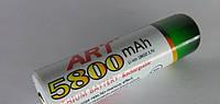 Аккумулятор ART 18650 5800 mAh Li-Ion. Аккумуляторы для фонарей Police, Bailong, для радиоприемников,триммеров