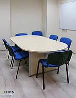 Конференц стол на алюминиевых регулируемых опорах 2200*1100*750h