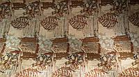 Гобелен K-5 лист коричневый обивочная мебельная ткань Турция (вит)