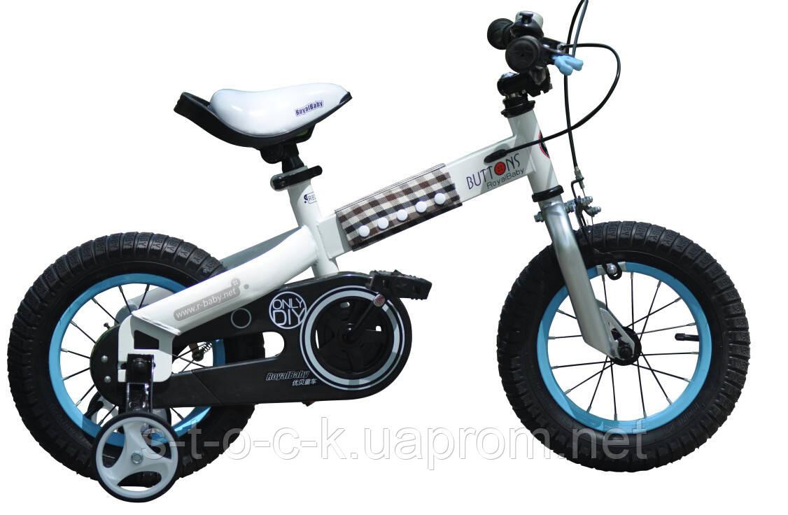 """Детский велосипед Royal Baby Buttons Steel 12"""".Цвет:красно-чёрный"""