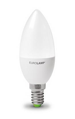 Диммируемая LED Лампа Eurolamp E14 свеча 6W 4000K