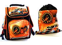 """Ранец школьный,и сумка для сменки """"Hot Wheels """" Vombato, фото 1"""