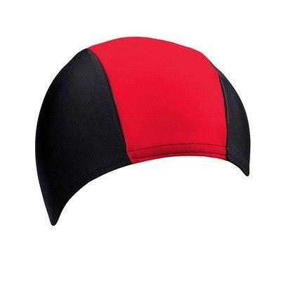 Тканинна шапочка для плавання BECO чорний/червоний 7728 05