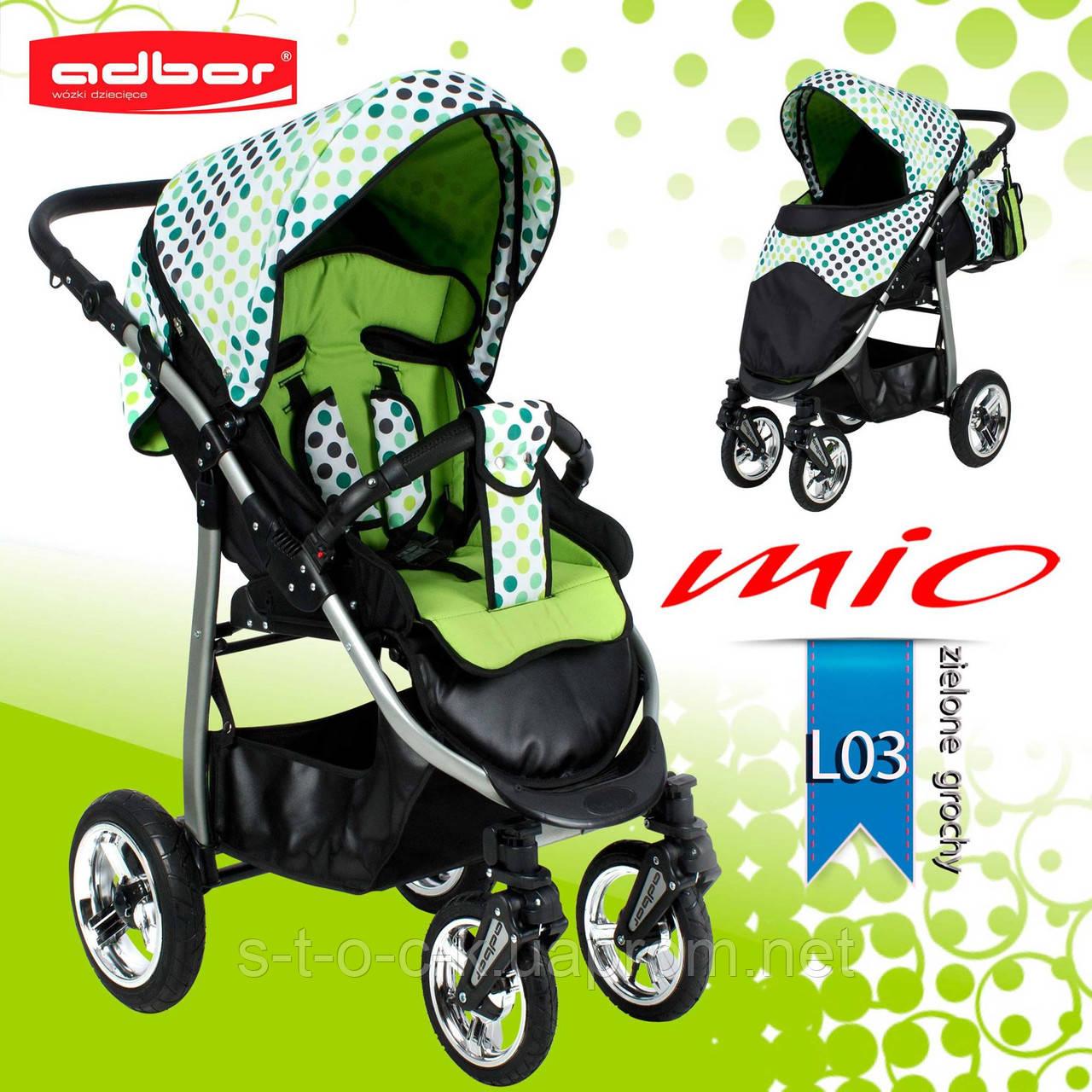 Adbor MIО прогулочная коляска. Цвет:зеленый в горошек