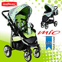 Adbor MIО прогулочная коляска. Цвет:зеленый в горошек, фото 1