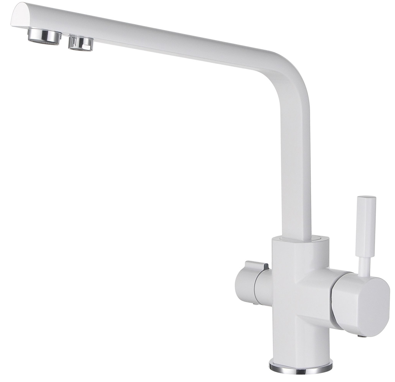 Смеситель с подключением фильтрованной воды 2 в 1 Kaiser Decor 40144-10 Белый глянцевый