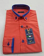 Рубашка для мальчиков,цвет таракот  на рост 128-146