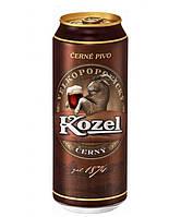 Темное пиво Kozel cerny 0.5 л  Козел темный ж/б