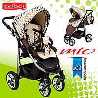 Adbor MIО special edition прогулочная коляска. Цвет:бежевый в горошек