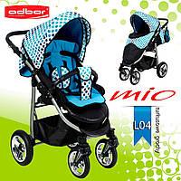 Adbor MIО special edition прогулочная коляска. Цвет:голубая в горошек