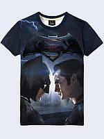 Футболка 3D Бетмен і Супермен, фото 1