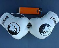 Мини боксерские перчатки PITBULL SYNDICATE Белые, подарок, сувенир, брелок