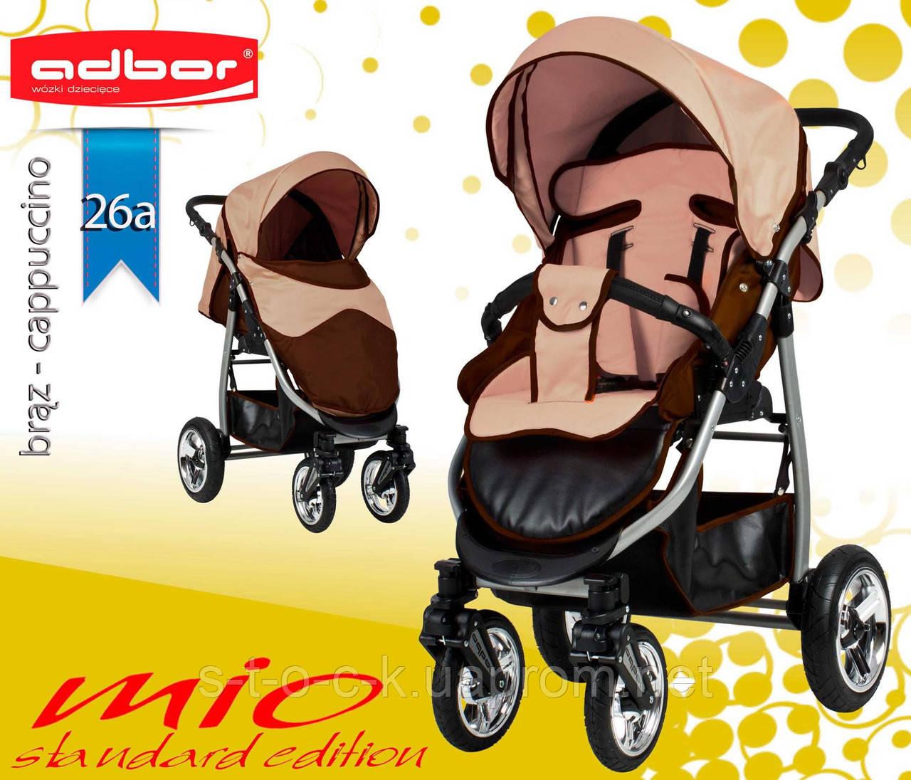 Adbor MIО  прогулочная коляска с надувными колёсами. Цвет:бежевый