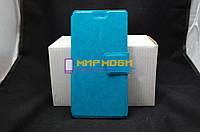 Чехол-книжка PU кожа кожаный Prestigio MultiPhone PSP 3507 Wize N3 Синий +ПОДАРОК