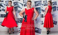 Женское стильное платье длины миди 200
