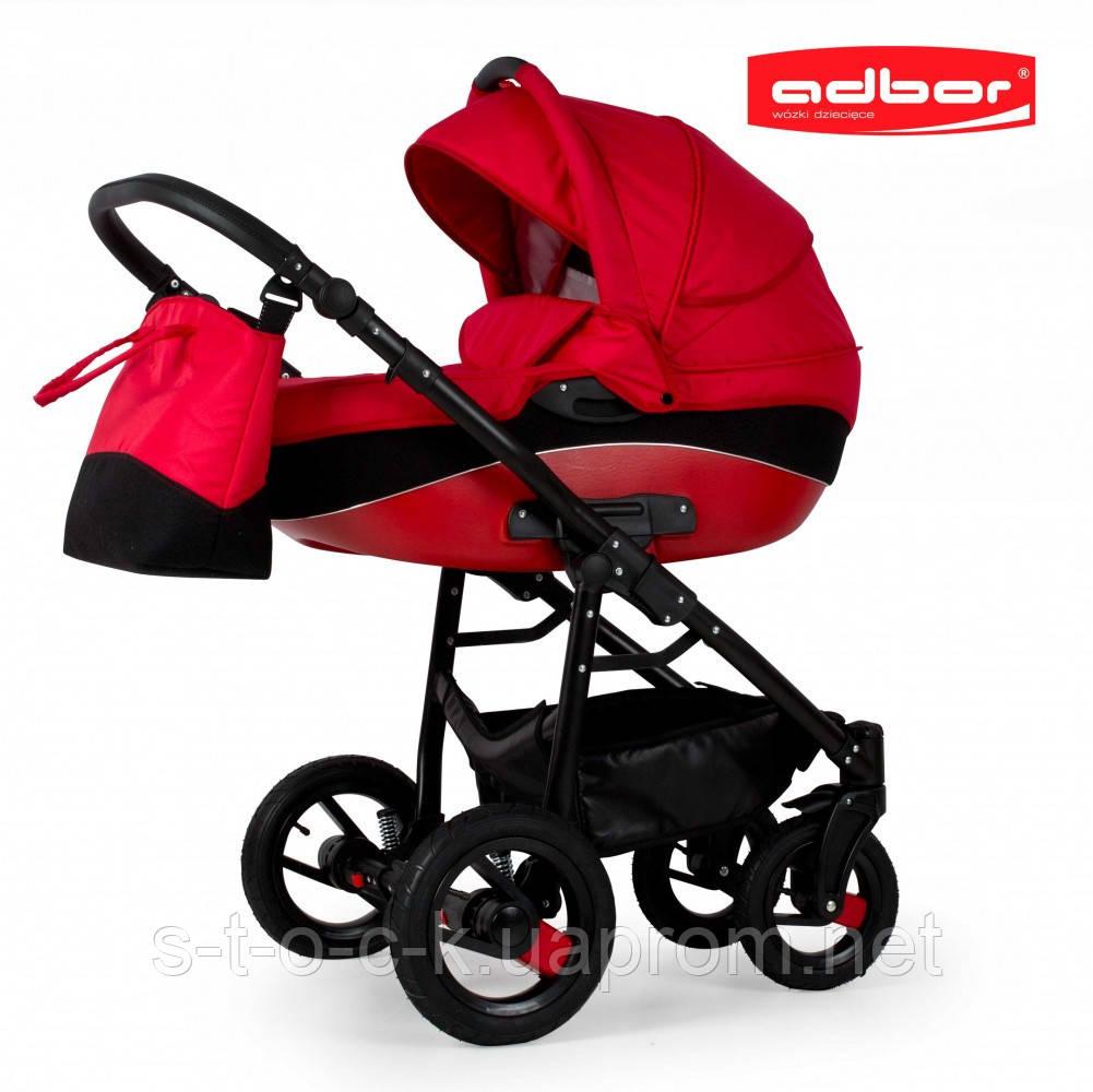Adbor NEMO 3 в 1. Многофункциональная детская коляска на алюминиевой раме. Цвет:красный