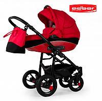 Adbor NEMO 3 в 1. Многофункциональная детская коляска на алюминиевой раме. Цвет:красный, фото 1