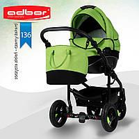 Adbor NEMO 3 в 1. Многофункциональная детская коляска на алюминиевой раме. Цвет:салатовый