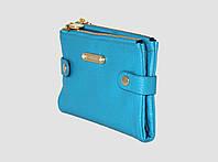 Кожаный женский кошелек на заклепках А906
