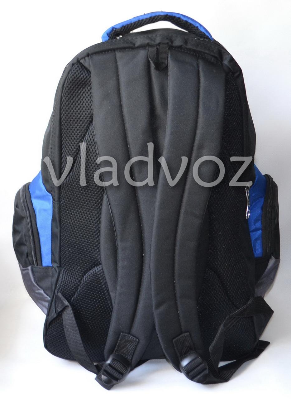 Школьный рюкзак extreme sports чёрный DFW вид сзади