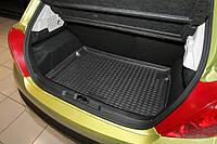 Коврик в багажник для Volkswagen Caddy '16-, резино/пластиковый, 2 задн.сдвижные двери, подъемнная задн.