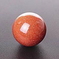 Шар Авантюрин Золотой Песок, диаметр 37мм