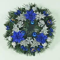 Венок новогодний украшенный 0422SB, фото 3