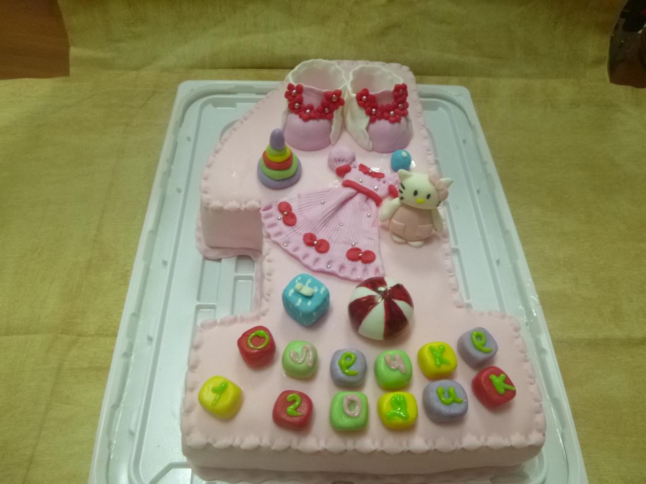 Детский торт на заказ на один годик