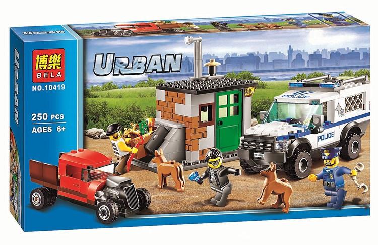 """Конструктор Bela 10419 (аналог Lego City 60448) """"Полицейский отряд с собакой"""", 250 дет"""