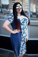 Летнее платье лен большой размер