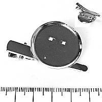Фурнитура для бижутерии основа для броши , заколки L-3см d-2.5см