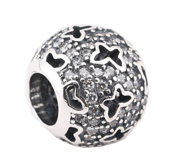 Шарм для браслета Пандора (Pandora) «Порхающие бабочки»