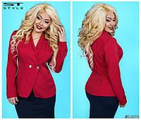 Женский стильный пиджак в расцветках 48+