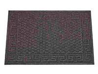"""Коврик придверный (серый, бордо с ворсом) 116,5 х 73 cm.ТМ """"YP group"""""""