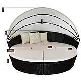 Лежак ліжко пляжна з ротанга, фото 2