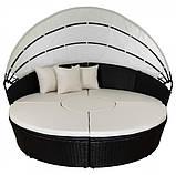 Лежак ліжко пляжна з ротанга, фото 3