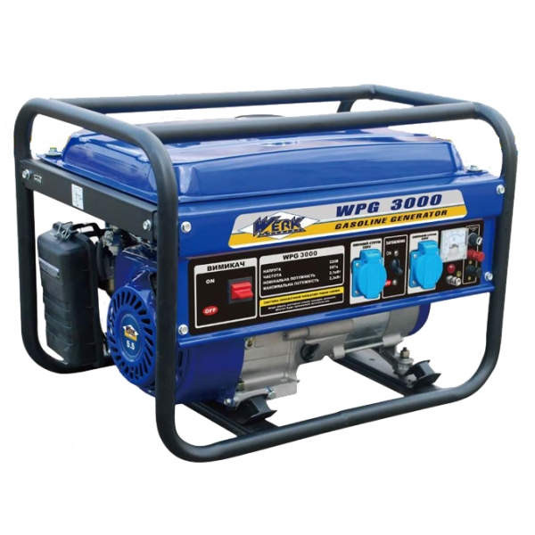 Бензиновий генератор WERK WPG 3000 на 2,5 кВт. 220V