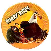 "Тарелки ""Angry Birds"" (желтые). Размер: 18см. В упак: 10шт."