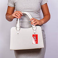 Белая дамская сумочка женская трапеция №1350wnr